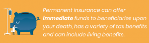 Permanent Insurance Offers Immediate funds, tax benefits and living benefits